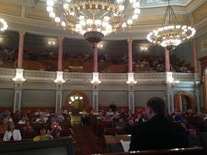 Addressing the 3rd Annual Kansas Book Festival in the House Chamber.