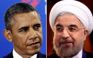 US President Barack Obama, left, and Iranian President Hassan Rouhani Photo: AFP/REUTERS