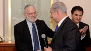 Israel's outgoing national security advisor Yaakov Amidror and the Prime Minister, working side by side.
