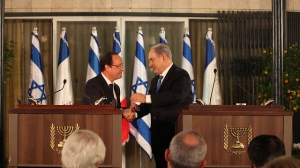 French President Hollande is suddenly Israel's new best friend.