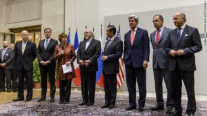 Secretary Kerry poses for pictures for foreign ministers from Iran and the P5+1 on the finalization of an interim deal with Iran. But apparently the deal wasn't actually finalized.
