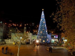 Christmas tree in Bethlehem. (photo credit: Dana Friedlander, courtesy Ministry of Tourism)