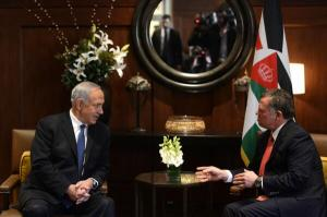 Israeli PM Netanyahu met this morning with Jordanian King Abdullah II to discuss latest developments in the peace process.