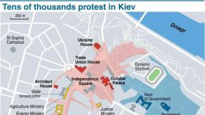 Map of Kiev, Ukraine (credit: AFP)