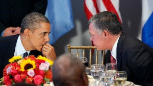 President Obama and Jordan's King Abdullah II.