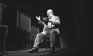 "Philip Seymour Hoffman as Willy Loman in ""Arthur Miller's Death of a Salesman.""  (Photo credit: New York Times)"
