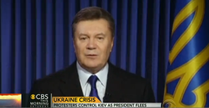 Ukraine's pro-Putin President, Viktor F. Yanukovych, has fled the capital of Kiev.