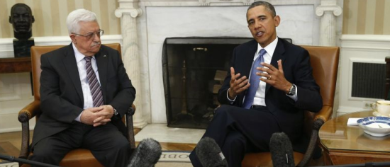 Palestinian Chairman Mahmoud Abbas met with President Obama today at the White House.