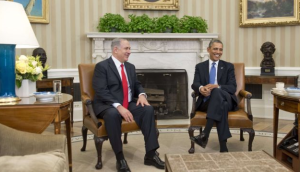 Obama and Netanyahu during a meeting at the Oval Office in Washington, D.C., March 3, 2014. Photo by AFP
