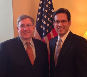 Meeting with House Majority Leader Eric Cantor at the Capitol.