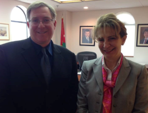 Meeting with Her Excellency Alia Bouran, Jordan's Ambassador to the U.S.