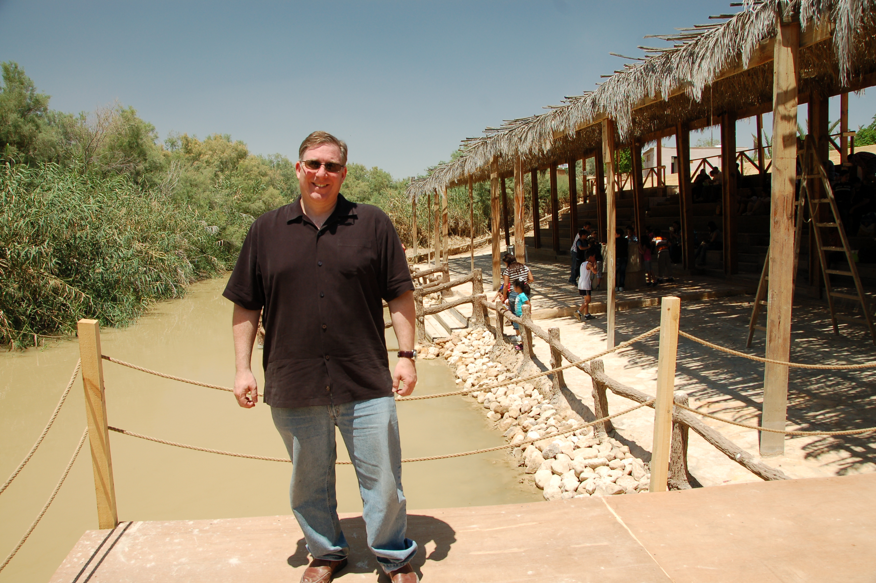 report from jordan day 2 was jesus baptized on the east bank of