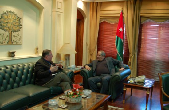 Interviewing Jordan's Foreign Minister Nasser Judeh in his office in Amman.