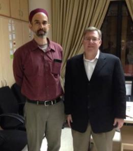 Meeting with HRH Prince Ghazi bin Muhammad in Amman on April 30, 2014.