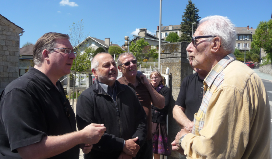 Meeting with Gabriel, 90, a devout Christian in Le Chambon sur Lignon, who joined the Resistance to fight the Nazis and protect the Jews. He was wounded twice.