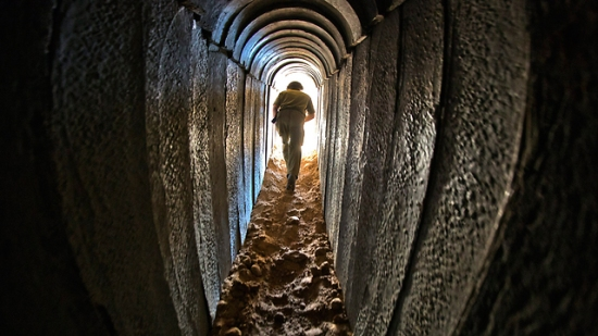 Hamas is storing rocket launchers, rockets and weapons in tunnels under Gaza. They're also digging tunnels under Israel for terrorists to use to enter Israeli villages.