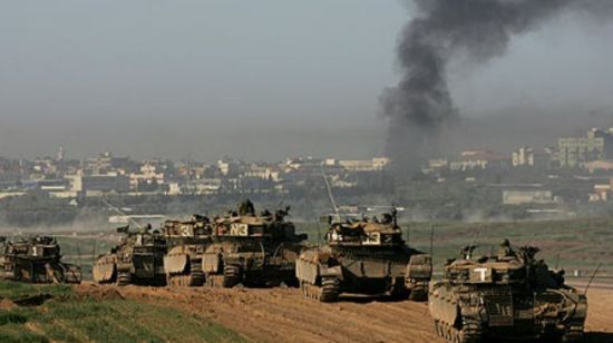 Israeli tanks heading towards Gaza.