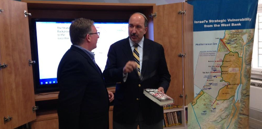"Meeting with Amb. Dore Gold, senior advisor to the PM, and giving him a copy of ""The Auschwitz Escape."""