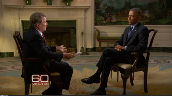 """Obama tells """"60 Minutes"""" that US intelligence underestimated the ISIS threat. (source: CBS News)"""