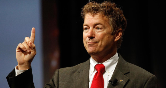 "Sen. Rand Paul is engaging in one ""epic flip flop"" after another.  Troubling views and troubling behavior for a GOP frontrunner. (photo credit: Politico)"
