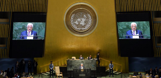 """Palestinian President Mahmoud Abbas accused Israel of """"genocide"""" during speech to the UN General Assembly this week."""