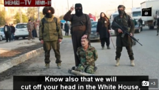 Screen shot of new ISIS video (source: MEMRI/Daily Mail)