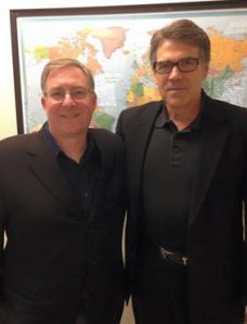 Meeting with Gov. Rick Perry.