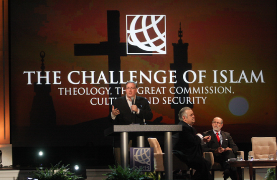 Addressing the National Religious Broadcasters Convention (photo credit: NRB)