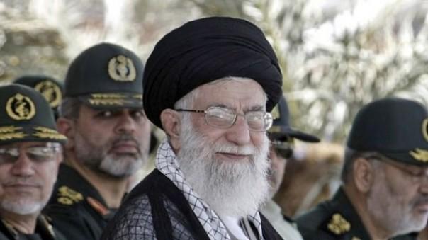 """Death to America!"" says Iran's Supreme Leader, the Ayatollah Ali Khamenei."