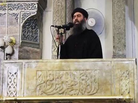 ISIS chief Abu Bakr al-Baghdadi (pictured here) has been severely wounded in an airstrike. Word is he has been replaced by a Radical physicist based in Mosul.