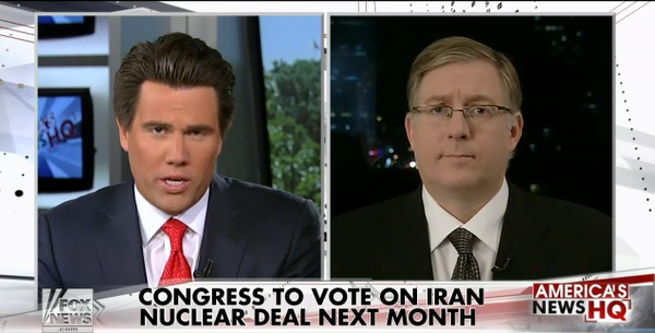 Interview on Iran deal with Fox News anchor Leland Vitter. (August 23, 2015)