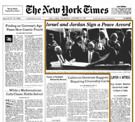 jordan-nyt-treatywithisrael-1994