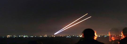 Gaza-2rocketsfiredatnight