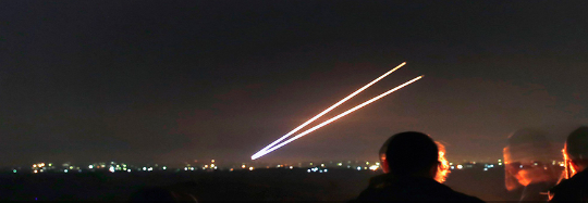 Gaza-2rocketsfiredatnight