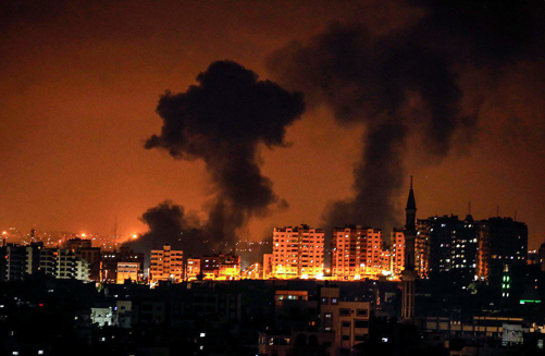 Gaza-smoke-skyline